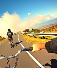 Hawaii bike rentals and tours, downhill mountain biking.