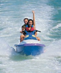 Ride your Maui Jet Ski like a motorcycle on the water at the Maui Jet Ski Rental course in Kaanapali.