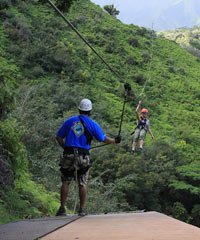 Hawaii Zipline Courses are found on all the major Hawaiian islands.