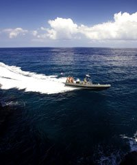 Ocean Warrior is a 36 Foot Navy SEAL assault raft boat