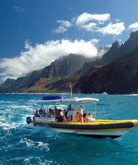 Dolphin tours on a 24 foot Zodiac Inflatable Raft.