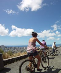 Oahu Bike and Waterfall Hike