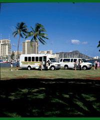 Charter Bus, Land Tours, and Sightseeing Tours, Oahu Sightseeing Tours and Land Tours, Tours to Waim