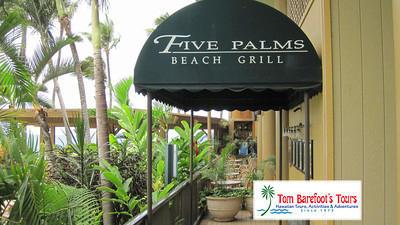 Five Palms Beach Grill at the Mana Kai Resort in Kihei