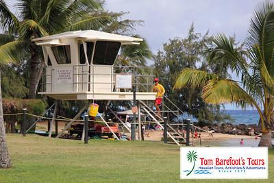 There are lifeguard towers on Poipu Beach