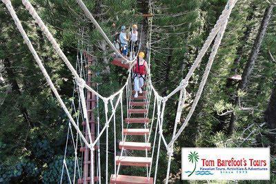 Just live ropes course has swinging bridges