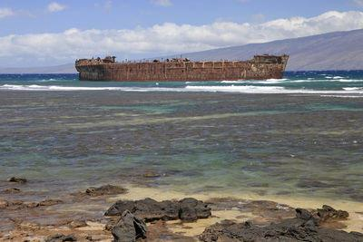 Yes, 'Shipwreck Beach' on Lanai Comes Complete with its own Shipwreck