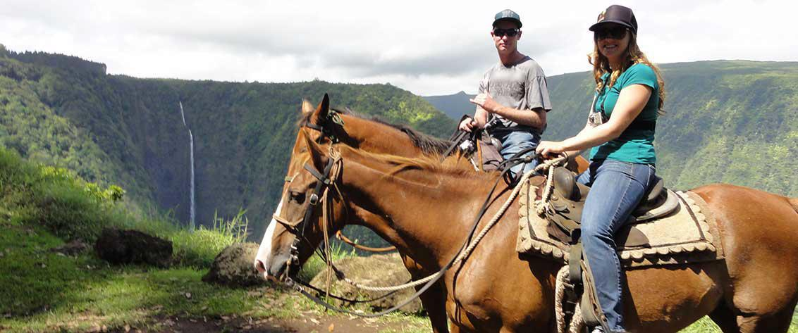 Big Island of Hawaii Horseback Riding Tours are offered at a number of beautiful ranches ideal for horseback riding.