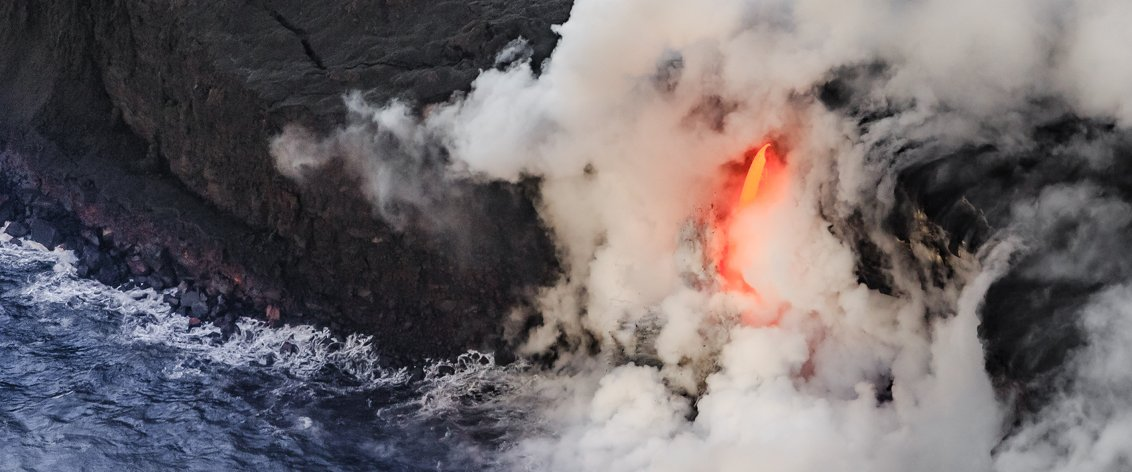 Take an Air Tour to the Big Island live volcanoes.