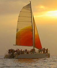 Reserve a Sunset Sail with Holokai Catamaran.