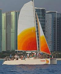 Reserve the Noon Snorkel Sail with Holokai Catamaran.