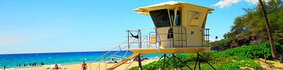 Find a Big Island Beach with Guard Tower and Life Guard
