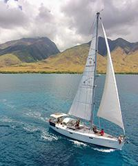 Kainani 43' Sailing Private with Snorkel 5 Hour
