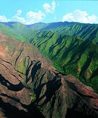 From Oahu- (K-1) Waimea Canyon/River