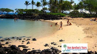 Kikaua Point Beach is usually smooth and calm like a pond