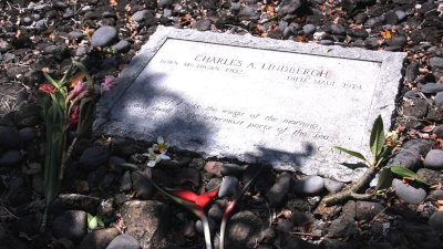 Charles Lindbergh's Resting Place in the remote region of Hana on the island of Maui.