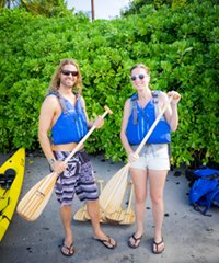 Ocean kayak and snorkel day on the coast of Big Island
