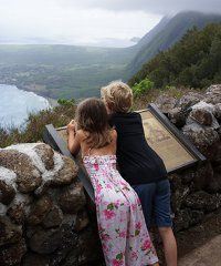 Topside Molokai from Oahu