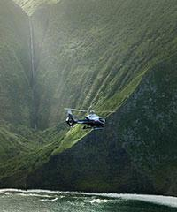 Reserve the Molokai Voyage (55 minutes) with Maverick Aviation.
