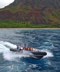 Raft- Nu'alo Kai Beach Land Day - Kauai Sea Tours