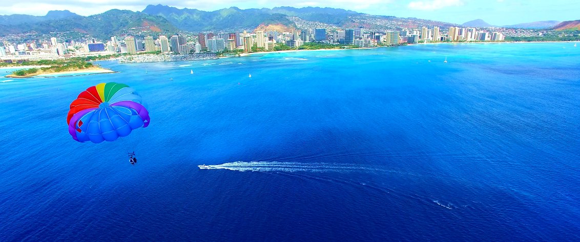 Parasailing on Oahu is a year round activity.
