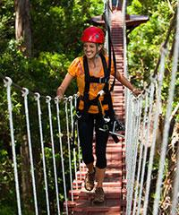 Reserve the Canopy Tour (7 Lines) with Piiholo Ranch Zipline.