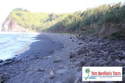 The Black Sands of Pololu Beach