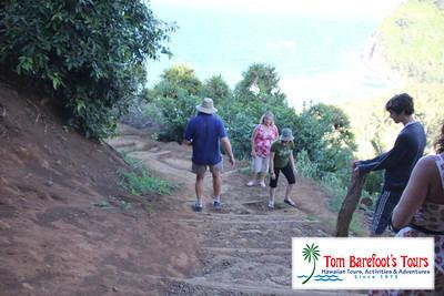 The Steep Trail Down to Pololu Beach