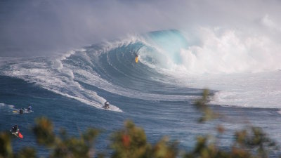 The Epic Maui Surf Break called 'Jaws'