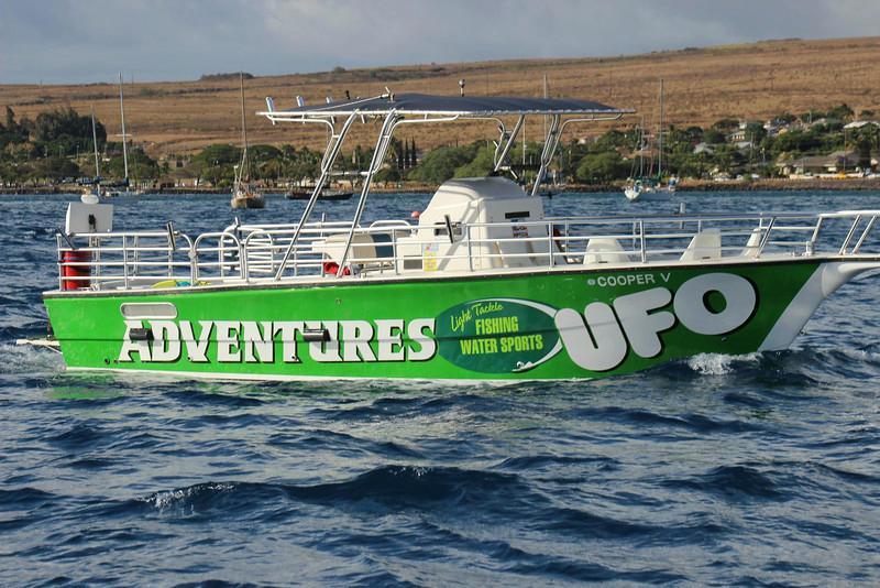Ufo parasail maui big island kaanapali lahaina for Maui fishing supply