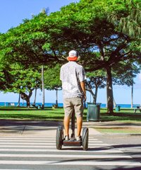 Waikiki Segway - See the sights of Oahu on a two wheeled Segway vehicle