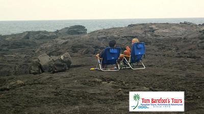 Enjoying a Chat on the Wawaloli Beach lava rocks