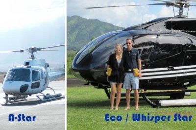 Why the A-Star and ECO-Star Helicopters are considered the 'Gold Standard' of touring helicopters in Hawaii.