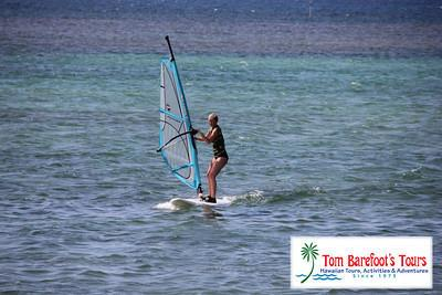 Windsurfers Dot the Horizon at Anini Beach
