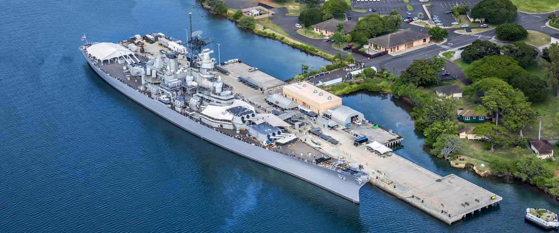The Battleship Missouri is the most famous US battleship.