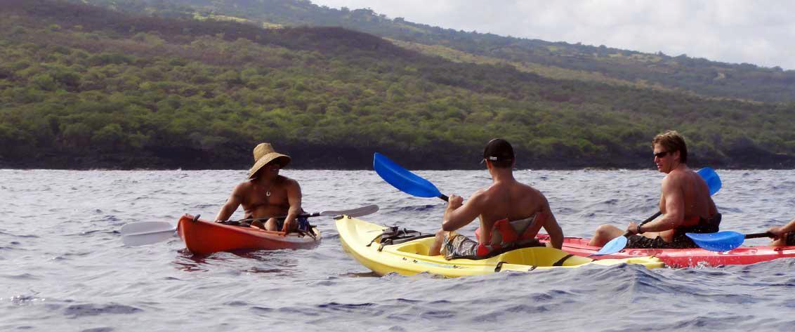 Big Island of Hawaii kayak tours get you close to the sea life!