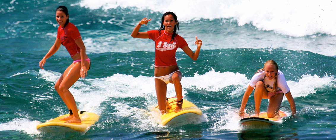 The Big Island of Hawaii has many beaches perfect for surfing lessons.