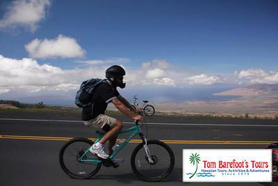 Make a reservation for a bike tour on Maui