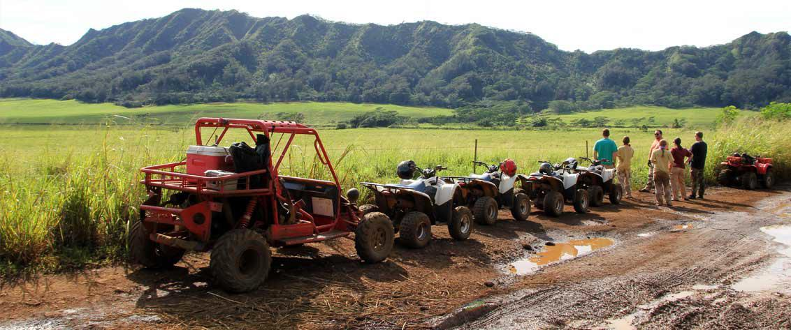see all ATV off road adventure tours in Hawaii