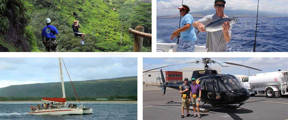 Sail, bike, hike, snorkel, submarine, helicopter, parasailing, and much more