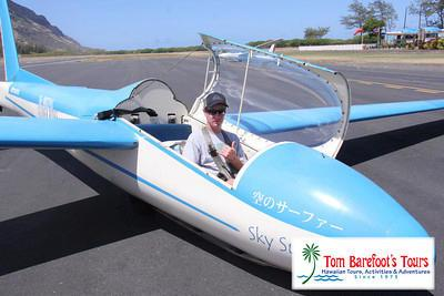 Jake Barefoot in the glider at Dillingham