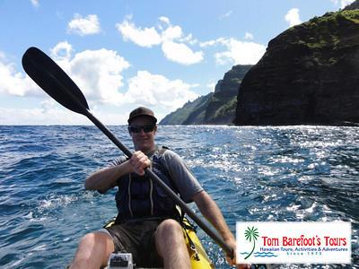 Jake Barefoot on Kayak Kauai Napali