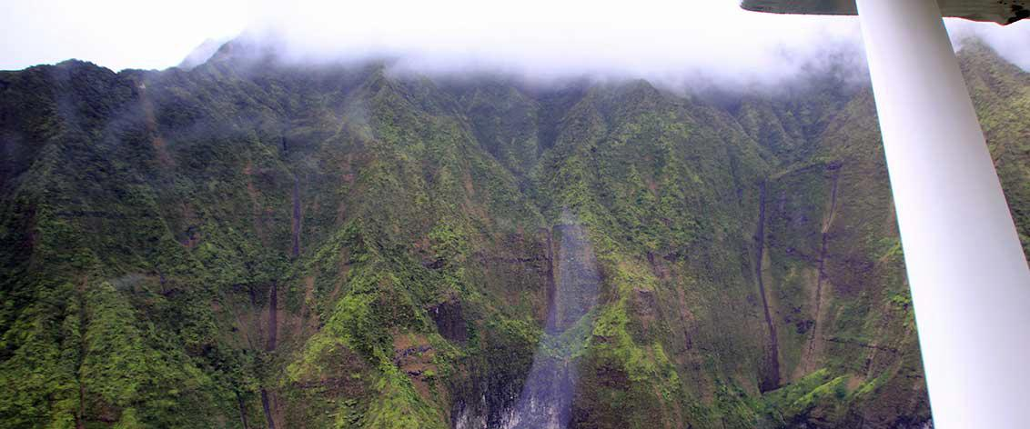 Kauai airplane tours provide your most economical option.
