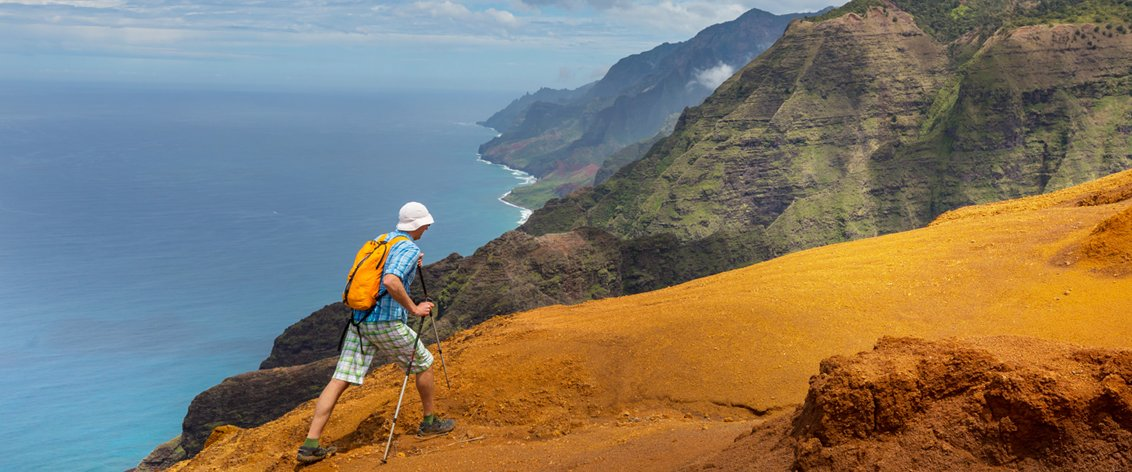 Kauai offers great hiking tours.
