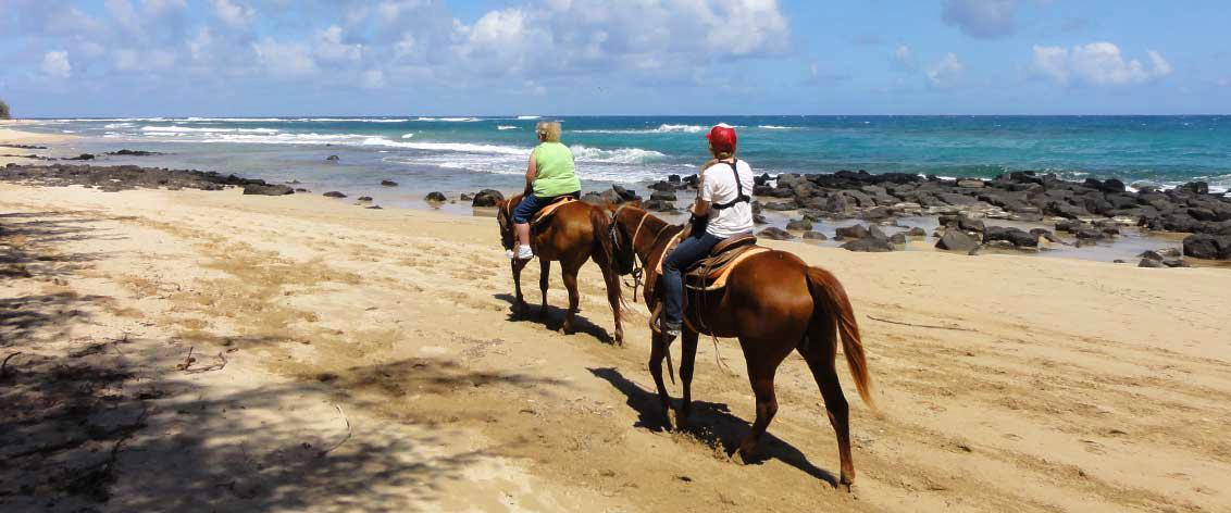 Kauai horseback rides can be found on both sides of the island.