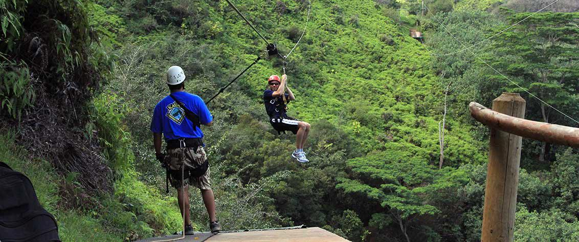 Our Kauai Zipline category is one of our most popular.
