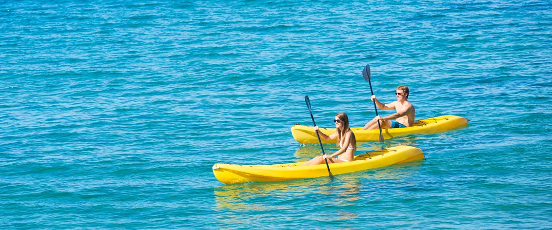Kayaking on the Big Island provides great snorkeling opportunities.