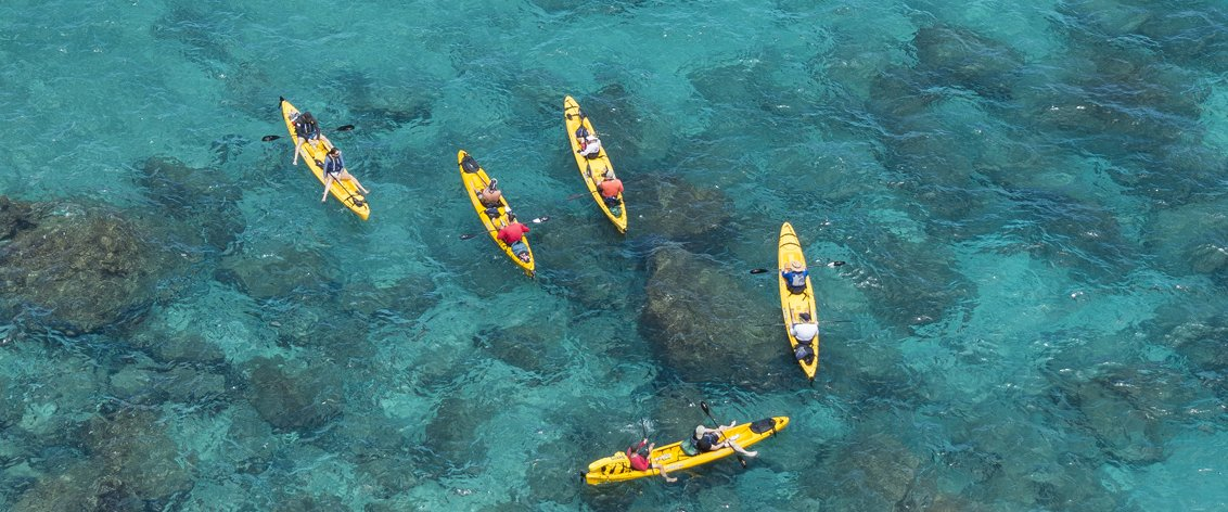 Kauai kayak tours are unique in Hawaii.