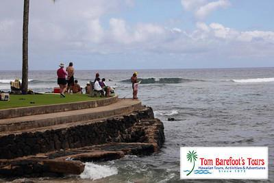 Watching the Surfers at Lawai Beach