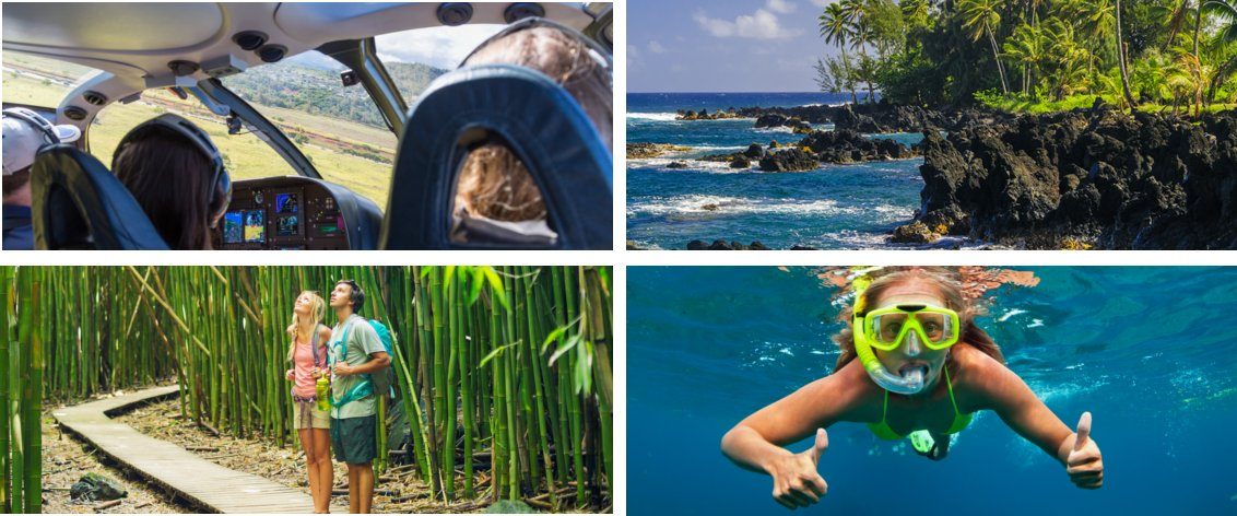 Many Maui tours can be sold in combination at discount pricing.